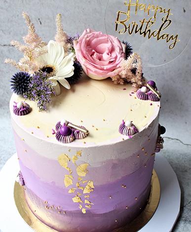 Portfolio taart lila Cakeswithcurves