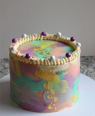 portfolio taart regenboog