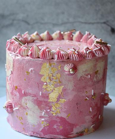 Portfolio taart roze