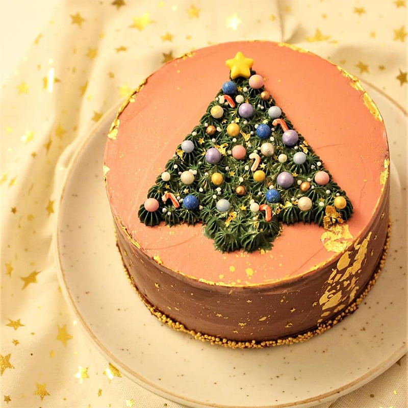kerst taart Cakeswithcurves